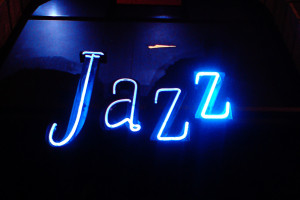 neon 'Jazz' sign